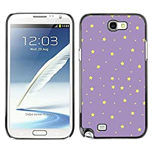 Planetar® ( Stars Purple Yellow Night Sky Wallpaper ) SAMSUNG Galaxy Note 2 II / N7100 Fundas Cover Cubre Hard Case Cover