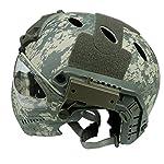 DECHO-C Casque Rapide d'Airsoft avec Le Masque de Masque pour l'armée Militaire WarGame Moto Faisant du vélo la Chasse 8