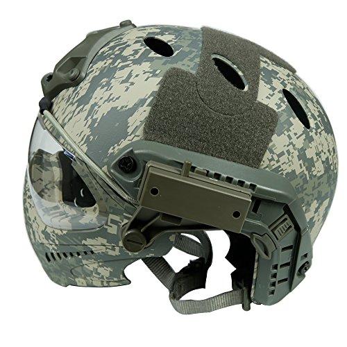 DECHO-C Casque Rapide d'Airsoft avec Le Masque de Masque pour l'armée Militaire WarGame Moto Faisant du vélo la Chasse 4