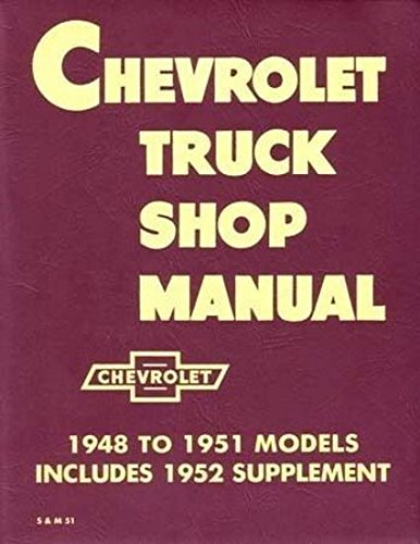 1948-1953 Chevy Pickup and Truck Shop Repair Manual Reprint