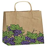 Grapes Double Bottle Shoppers, 8 x 4 3/4 x 13 5/8''
