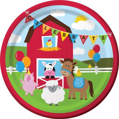 Farmhouse Toy Box (Creative Converting Farmhouse Fun Sturdy Style Paper Dinner Plates (8 Count),)