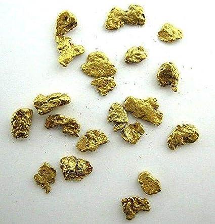 1.55 Grams or 1 DWT Alaskan Yukon Gold Rush Nuggets 12-10 Mesh .05 Troy Oz