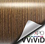VViViD Driftwood Wood Grain Faux Finish Textured Vinyl Wrap Film for Home Office Furniture DIY Easy to Install No Mess 1 Foot x 48 Inches