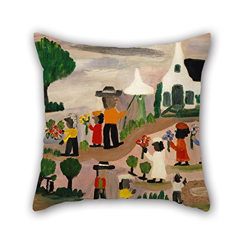 Artistdecor Christmas Pillow Covers Of Oil Painting Clementine Hunter - Funeral Procession For Home Office Monther Lover Home Office Seat Gf 16 X 16 Inches / 40 By 40 Cm(two Sides)