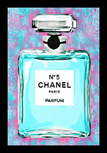 FRAMED Cotton Candy Chanel No 5 24x36 Pop Art Print Poster by Kelissa (Andy Warhol Chanel No 5 Poster)