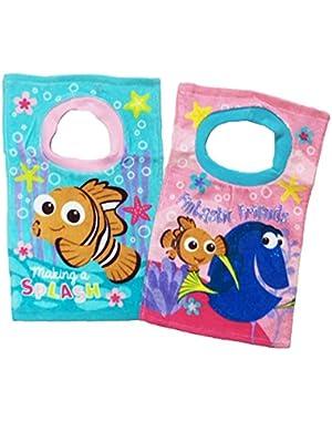 Finding Dory Nemo Toddler Baby Girls 2 Pack Bibs