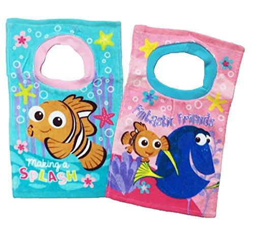 Disney Finding Dory Nemo Toddler Baby Girls 2 Pack Bibs