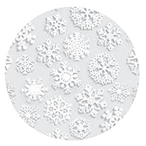 alfombrilla de ratón sin patrón de los copos de nieve de papel en gris - ronda - 20cm