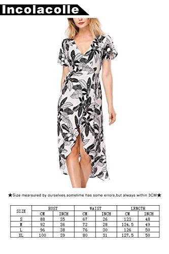 Incolacolle Nero Spiaggia Da Floreale La Coprire Del Bianco Delle Costume Donne In Copertura Bagno E Vestito Bikini Per pqBrwp