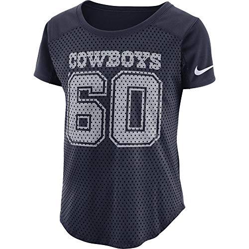 NFL Dallas Cowboys Womens Nike Mod Fan Top, Navy, Large
