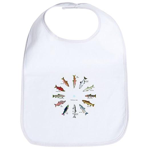 bb5659f0f Amazon.com: CafePress - North American Salmon and Trouts Clocks Bib - Cute  Cloth Baby Bib, Toddler Bib: Clothing