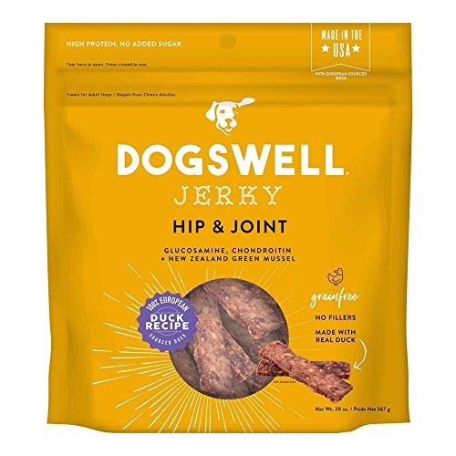 Dogswell 842195 Hip & Joint Duck Jerky Pet Food, 20 Oz