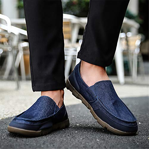 Classici di On Blu Flat Mocassini Fashion Uomo Slip Tela Outdoor Scarpe Casual Walking Traspiranti durevoli LIEBE721 Wqn4BZXB