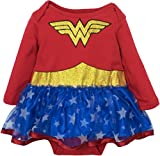 Wonder Woman Baby Girls' Costume Tutu Dress with Long Sleeves