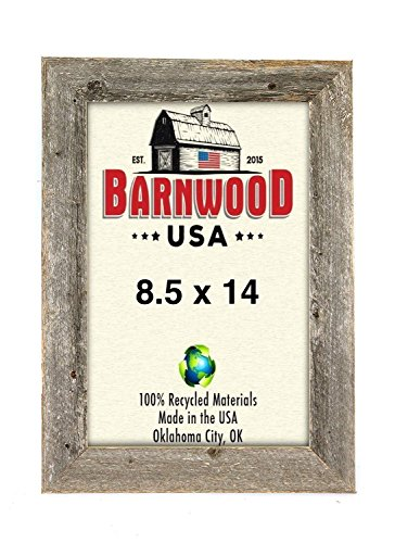 BarnwoodUSA Rustic Photo Frames 1 1/2 Inch Wide – 100% Reclaimed Wood, Weathered Gray (8.5×14) Review
