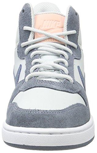 Nike Kvinna Domstol Stad Mitten Prem Tränare 844907 Gymnastikskor Benvitt (ren Platina / Arsenal Blå / Vit / Solnedgång Nyans)