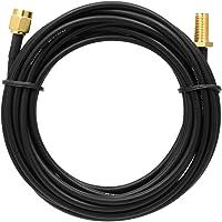 Docooler Câble d'extension d'antenne de 3 mètres RP-SMA Fiche mâle vers connecteur RP-SMA Femelle Adaptateur Jack Ligne de Conversion Cordon antenne 2.4GHz WiFi 2G 3G 4G