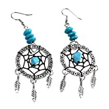 Jocestyle Handmade Dreamcatcher Angel Tassel Feather Ethnic Bohemian Dangle Earrings