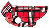 RC Pet Products Whistler Winter Wear V.2 Fleece Dog Coat, Size 12, Red Tartan