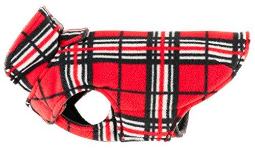 RC Pet Products Whistler Winter Wear V.2 Fleece Dog Coat, Size 16, Red Tartan