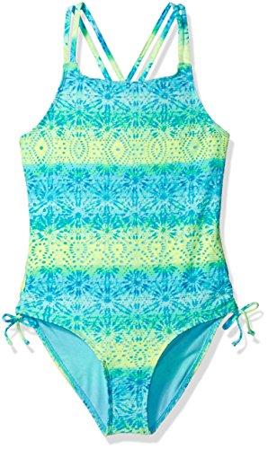 Angel Beach Big Girls' Swim Sonic Cool One Piece Swimsuit, Multi, 14