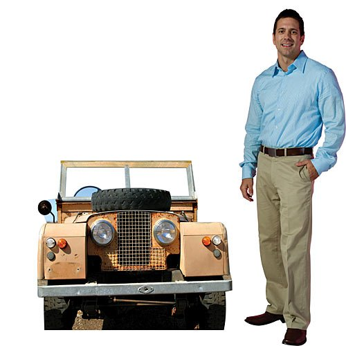 3 ft. 4 in. Jungle Safari Jeep Vehicle Photo Op Standee Standup Party Decoration Scene Setter Cardboard Cutout Prop