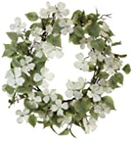 Melrose International Soft Cream Dogwood with Lush Soft Green Foliage Artificial Wreath, 26-Inch