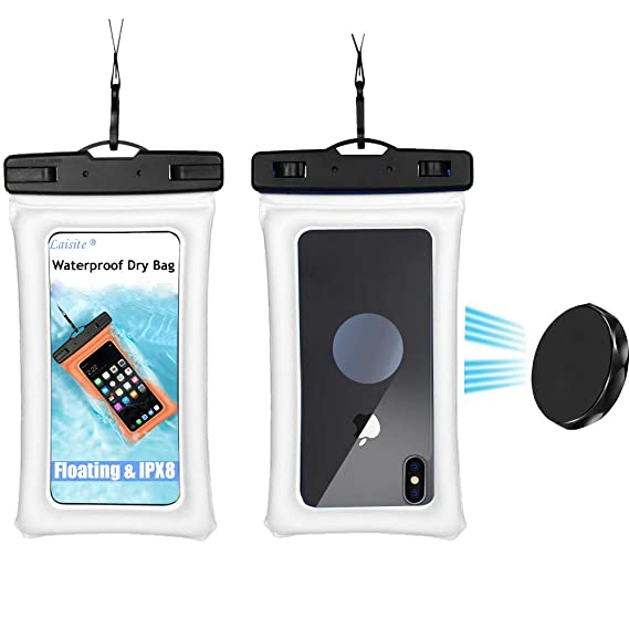 sports shoes 5890c 92713 Floating Waterproof Cell Phone Pouch,IPX8 case with Lanyard for Using  Outdoor Like Kayaking/Camping/Fly Fishing/Boating,Using Showe Holder for ...