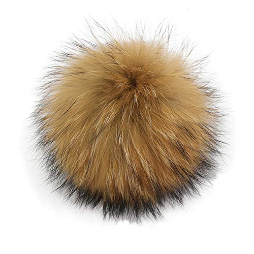 Real Fox Fur Fluffy Pompom Ball for Knitting Hat Shoes Scarves Bag Charms Primary Color 15