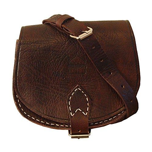 Hombre Piel bandolera Berber de Mujer Leather Bolso xwfnq0p