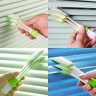 Funny Tool Mini Duster for Car Air Vent, Set of 3 Automotive Air Conditioner Cleaner and Brush, Dust Collector Cleaning Cloth Tool for Keyboard Window Leaves Blinds Shutter Glasses Fan: Health & Personal Care