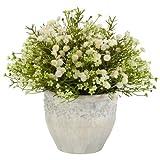Nearly Natural 4125 Daisy Decorative Silk Plant Indoor/Outdoor, Mini, Mixed