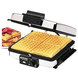 BLACK+DECKER G48TD 3-in-1 Waffle Maker & Indoor Grill/Griddle, Silver