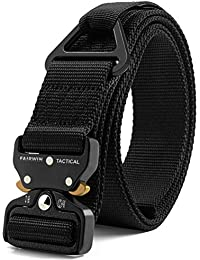 Tactical Rigger Belt, Nylon Webbing Waist Belt with V-Ring Heavy-Duty Quick-Release Buckle