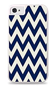 Yellow and Gray Chevron Pattern White Silicone Case for iPhone 5 / 5S
