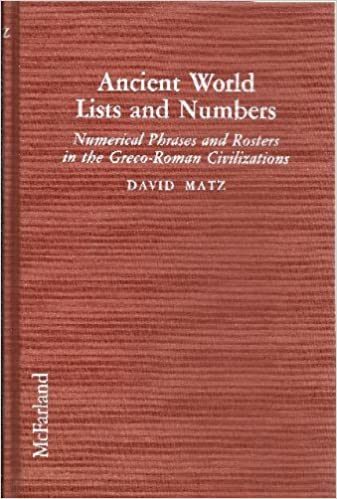 Ancient World Lists and Numbers cover