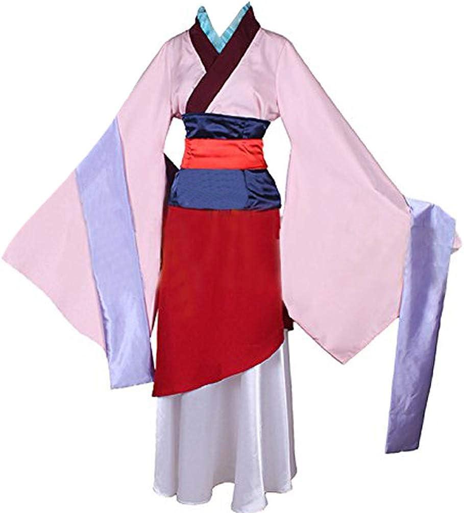 Amazon Com Women Anime Hua Mulan Cosplay Costumes Princess Costumes Dress For Halloween Party Clothing