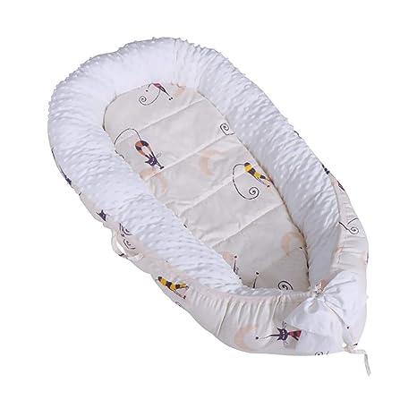 Amazon.com: Bebé Bassinet para cama, portátil super suave ...