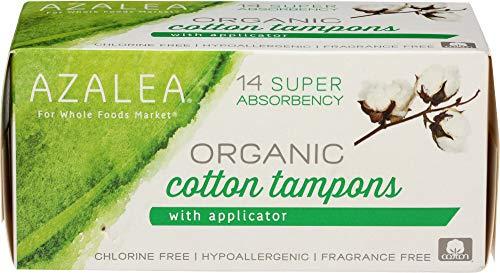 Azalea, Organic Cotton Tampons with Applicator, Super, 14 ct