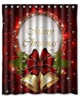 Merry Christmas Custom Fashion Shower Curtain 60-Inch by 72-Inch