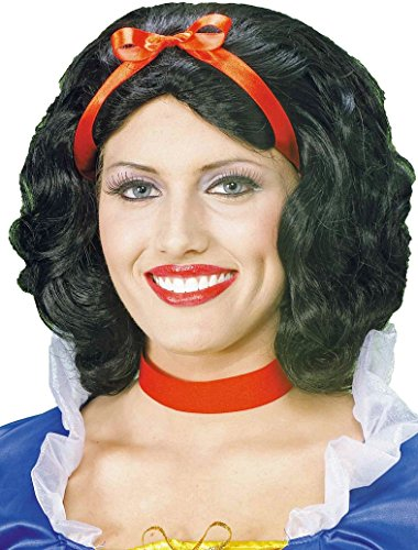 Forum Snow White Wig, Black, One Size