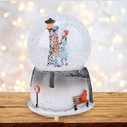 AUNMAS - Bola de Nieve Musical con luz LED en Forma de Amante para decoración del hogar: Amazon.es: Hogar