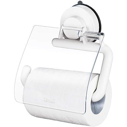 Ventosa Toalla de Papel para baño Toalla Impermeable Reel Papel de Mano Papel higiénico Estuche para