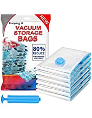 Vacuum Storage Bags, 8 Pack Space Saving Bags (2 Jumbo, 4 Large, 2 Medium) Vacuum Compression Storage Bag with Handy Pump Reusable Closet Clothing Organizer Bags for Travel & Home