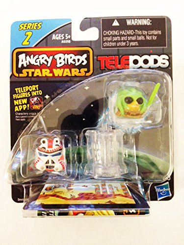 Angry Birds Star Wars Telepods Series 2 Kit Fisto Bird & Shock Trooper Pig