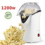 Best Hot Air Poppers - Hot Air Popcorn Popper, Popcorn Maker, 1200W Electric Review