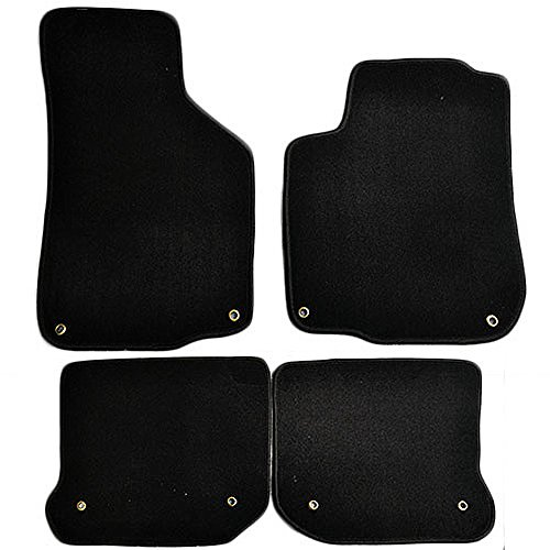 Floor Mats Fits 1999-2005 VOLKSWAGEN GLI MK4 | Nylon BlackFront Rear Carpet by IKON MOTORSPORTS | 2000 2001 2002 2003 ()
