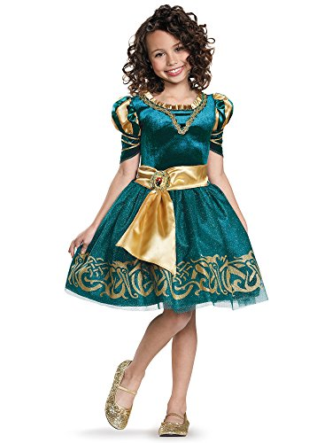 Custom Girls Halloween Costumes (Merida Classic Disney Princess Brave Disney/Pixar Costume, Medium/7-8)