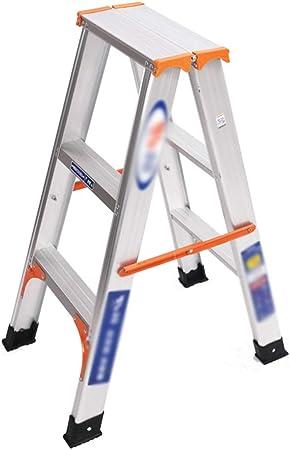 DZWSD Escalera de Aluminio escalerilla 2/3/4 peldaños Escalera Multifuncional Adecuado para el desmontaje y Montaje de Bombillas, Cortinas, decoración Interior y Exterior: Amazon.es: Hogar